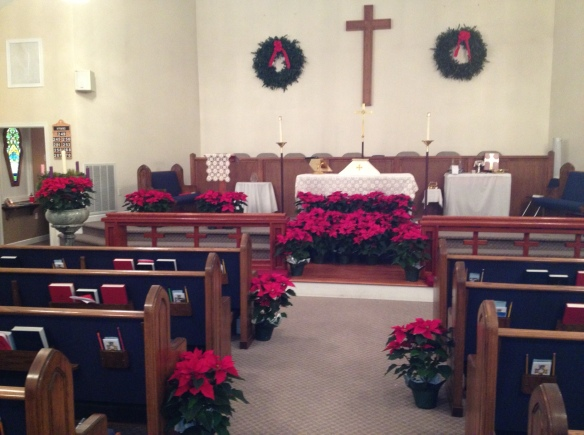 church at christmas
